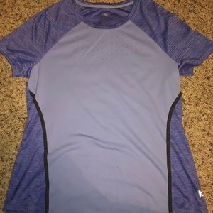 Women's Danskin shirt sleeve semi fitted shirt, M